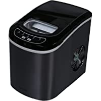 Northair HZB-12/SA Portable Ice Maker Machine Counter Top with 26lbs Daily Capacity Stainless Steel Colorful (Black)