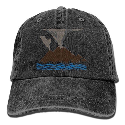 Eruption Natural (Men Women Volcano Eruption Natural Cotton Denim Baseball Hat Adjustable Street Rapper Hat)
