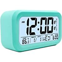 "TXL Large LCD Digital Alarm Clock 4.7"" Kids Bedside Clock Battery Operated with Snooze&Light Touchpad Function/2 Alarms…"