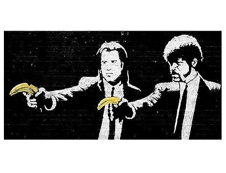 Amazon.com: Alonline Art - Pulp Fiction Banana Banksy VINYL STICKER ...