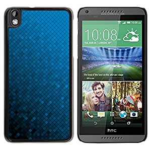 Qstar Arte & diseño plástico duro Fundas Cover Cubre Hard Case Cover para HTC DESIRE 816 ( Blue Wallpaper Random Gradient Color)