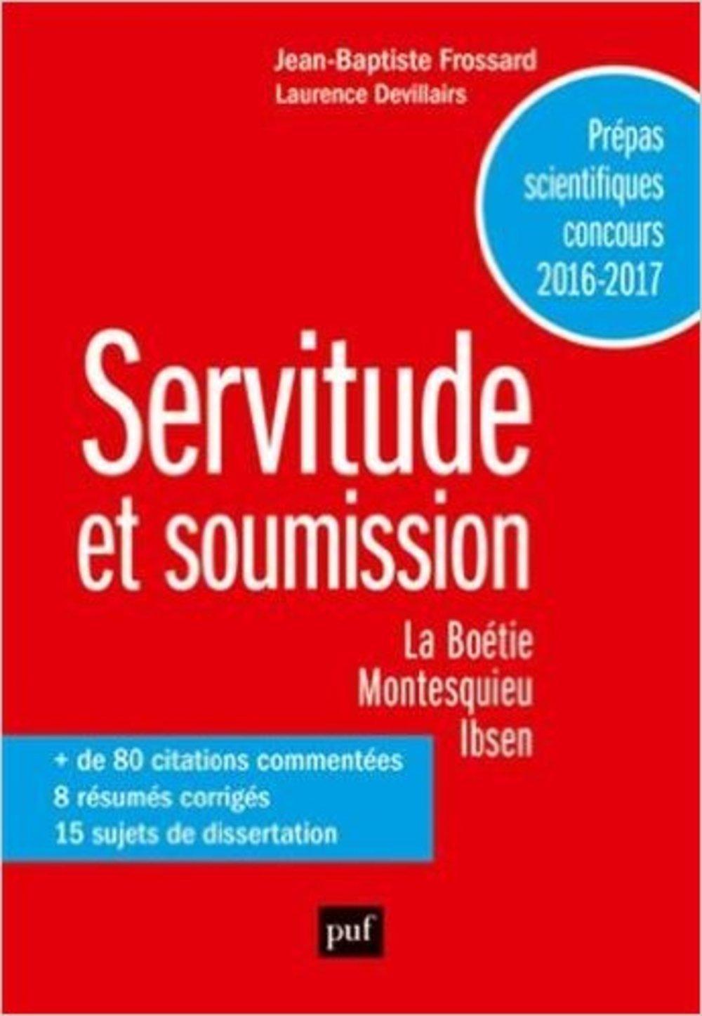 Servitude Et Soumission La Boétie Montesquieu Ibsen