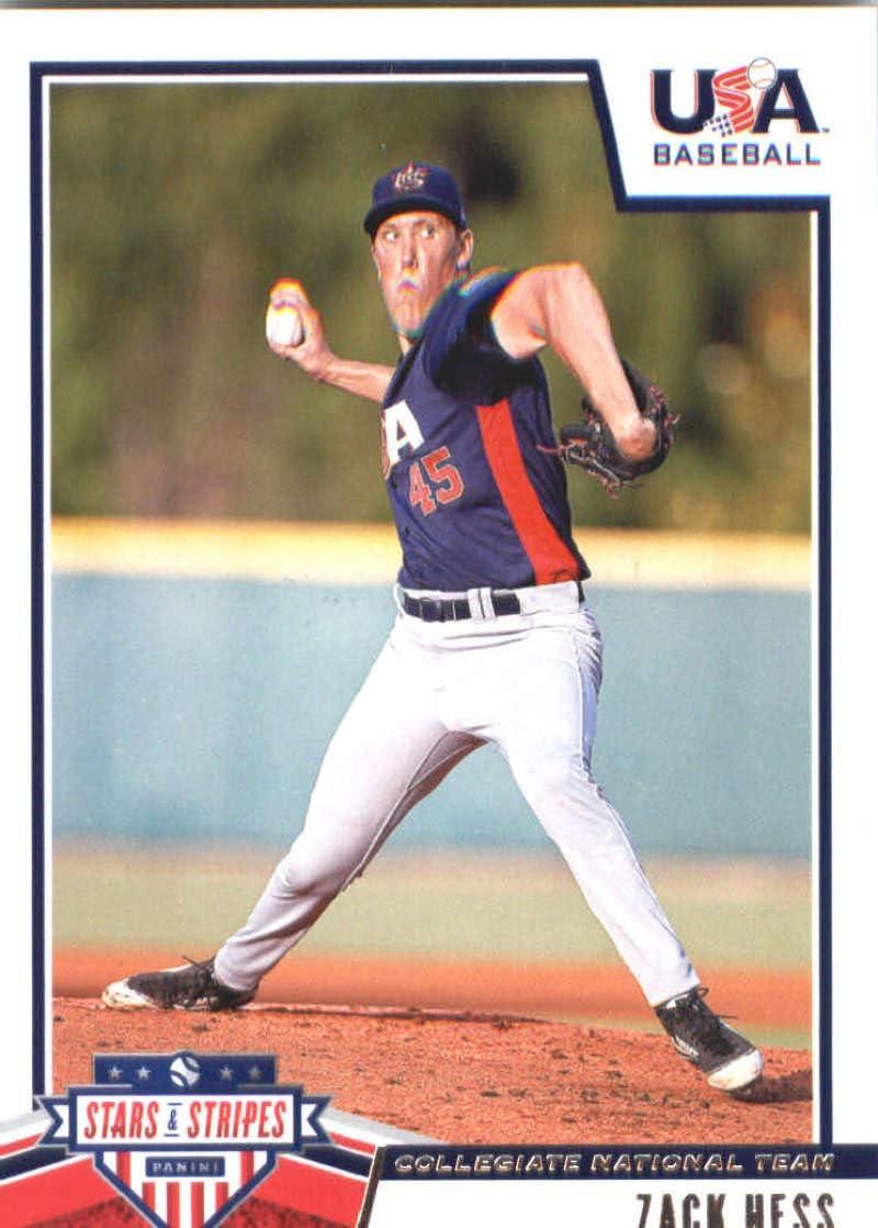 2019 Panini Stars and Stripes Longevity Base Baseball #3 Matt Cronin USA Baseball Collegiate National Team Official USA Trading Card