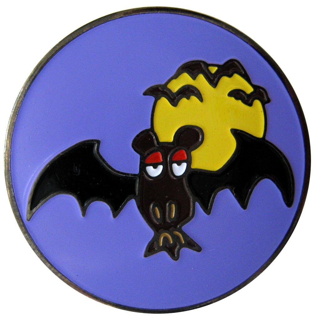 Bat and Full Moon Halloweenゴルフボールマーカーwith Spider帽子クリップ   B00E9ALDG2