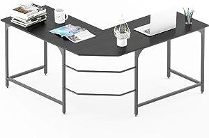 Elephance L Shaped Desk Corner Computer Desk Gaming Table Workstation for Home Office Study