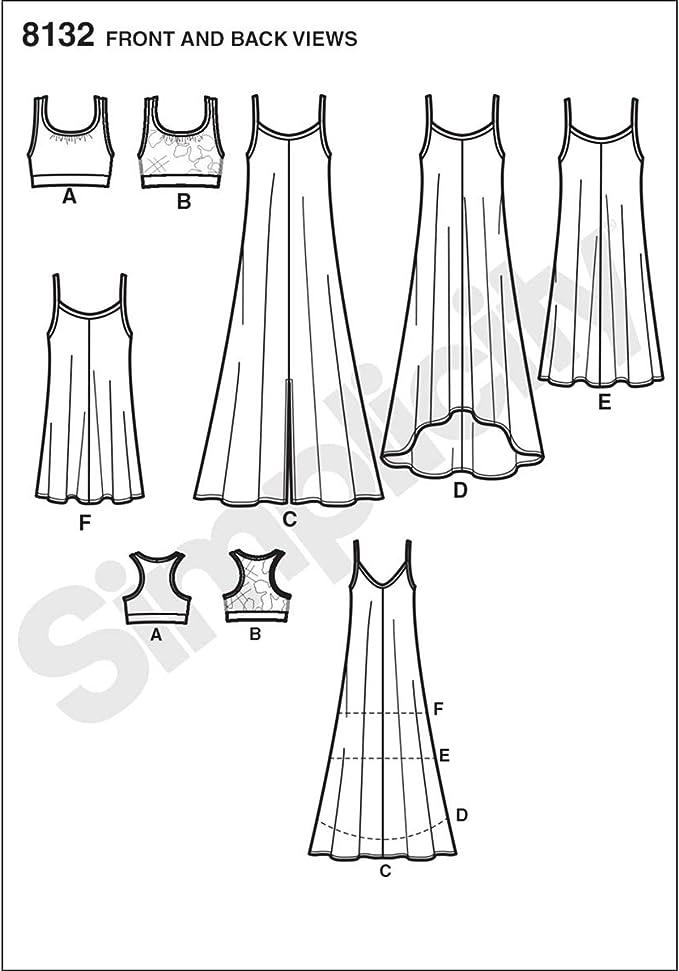 Sewing Pattern Dress Simplicity 8132 4 6 8 10 12 Dresses Tunics Tops Tanks