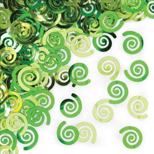 Creative Converting 21443 12 Counts Confetti Fresh Lime Swirls, Any, Multicolor