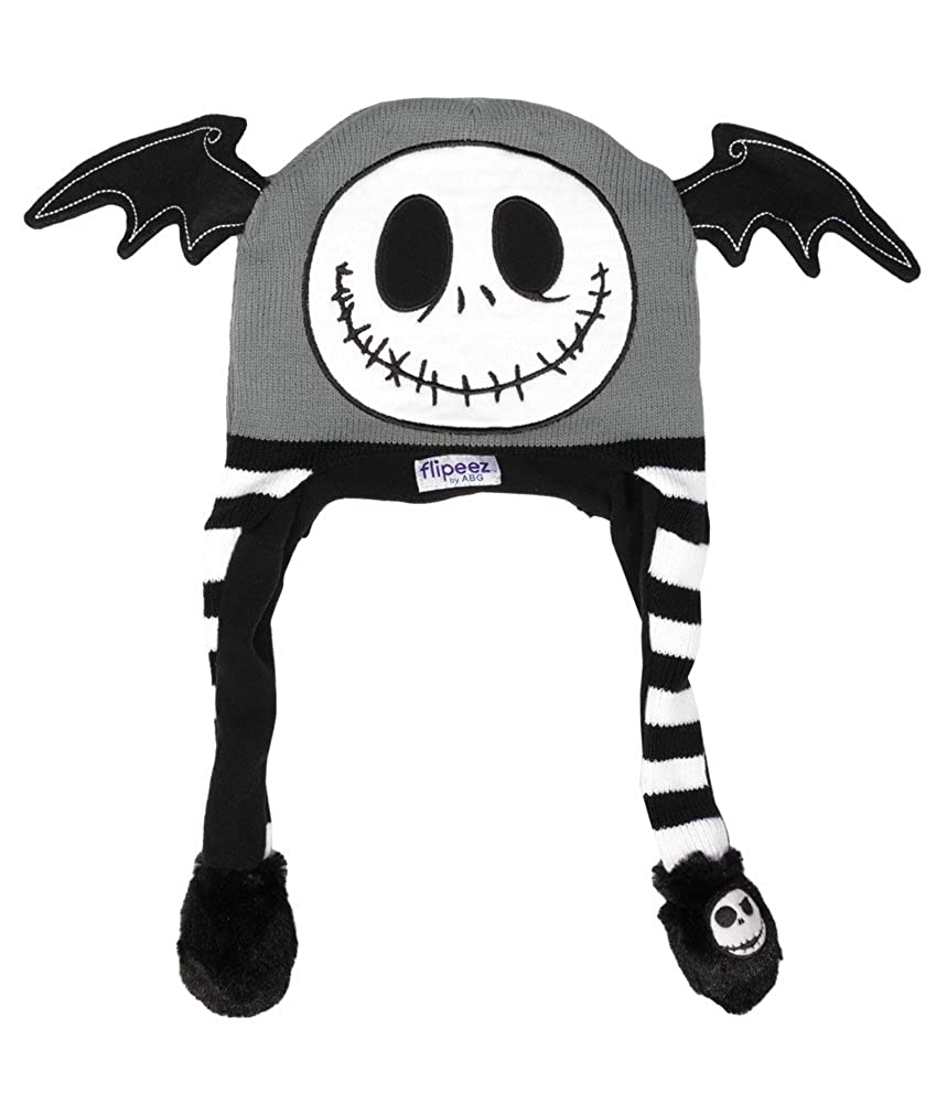 fc80b6c0161 Amazon.com  Jack Skellington Adult Black Flipeez Action Hat  Clothing