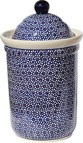 (Polish Pottery Canister From Zaklady Ceramiczne Boleslawiec 1244-120)