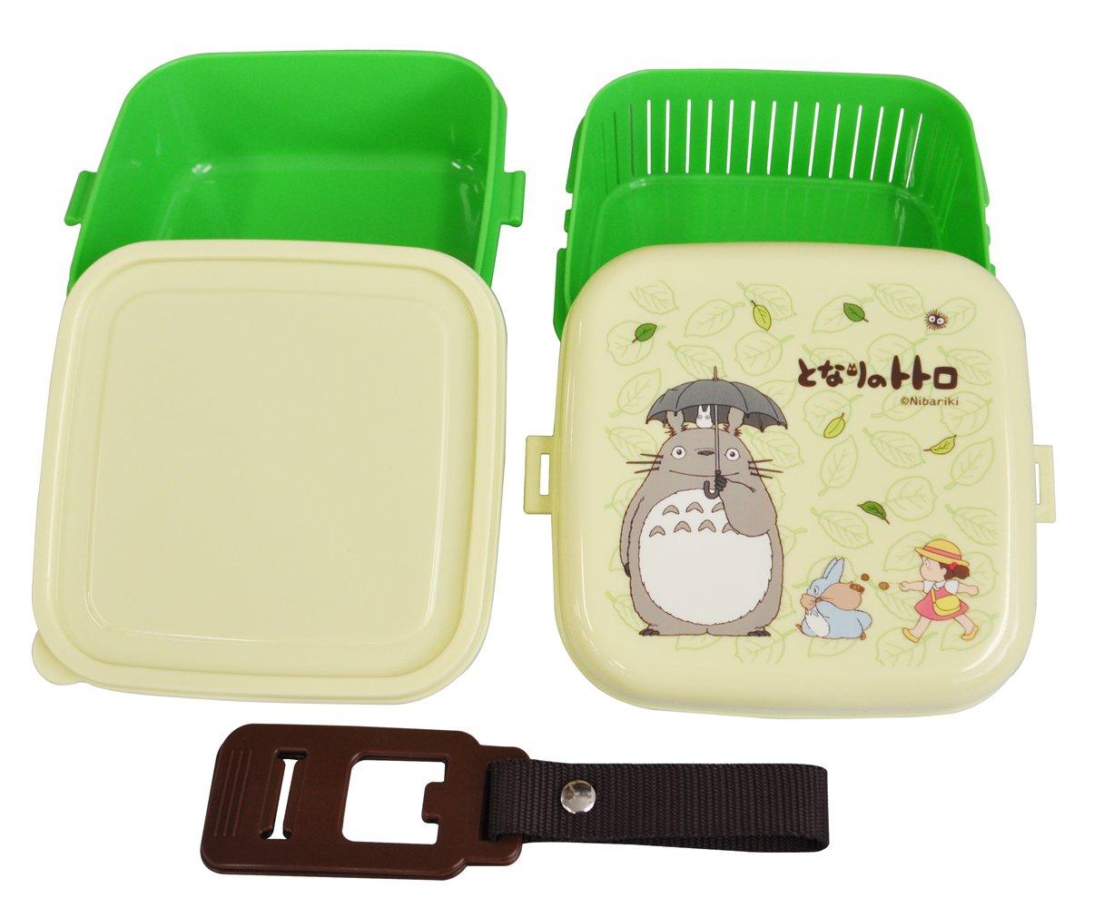 Totoro Bento Studio Ghibli Totoro Design 2-Tier Bento Lunch Box, 620 mL Plus 630 mL