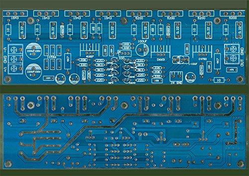 FidgetFidget Power Amplifier Board PCB for Toshiba 2SC5200 2SA1943 400W Mono High Power AMP