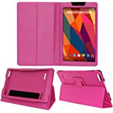 Acm Executive Case for Micromax Canvas Tab P681 Tablet Front & Back Flip Cover Stand Pink