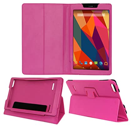 promo code 26f5f 41db1 ACM Executive Case for Micromax Canvas Tab P681 Tablet Front & Back Flip  Cover Stand Pink