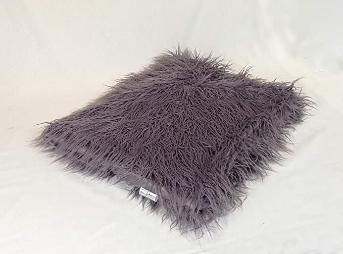 Hugs Living Mongolian Faux Fur Throw Blanket Sofa Couch Bed Dark Lavender 50 x 60 Bedroom Decor Long Hair Shaggy Throw Blanket for Home Decor