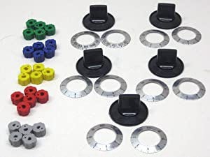 Cooking Appliances Parts KN002 Universal Electric Range Oven Knob Handle Kit Color Black