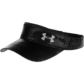 Under Armour Women s UA Fly Fast Visor Black Black Silver Reflective Hat 1856f3c387e