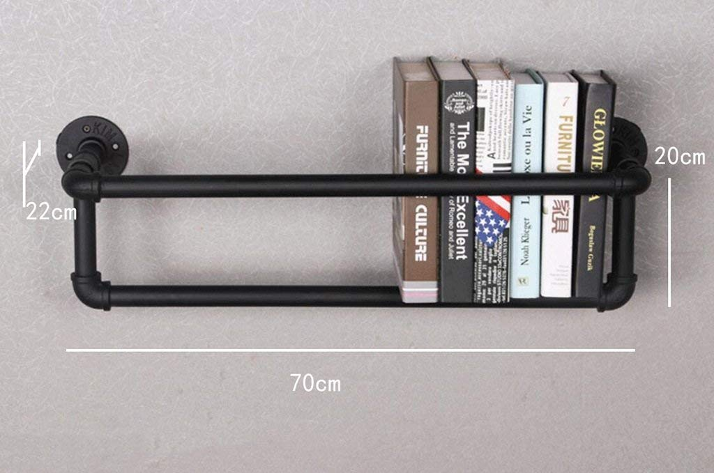 YANG Intashj Iron Tube Retro Bookcase Loft Wall Wall Mounted Shelves Shelves Water Pipe Decoration Bookshelves