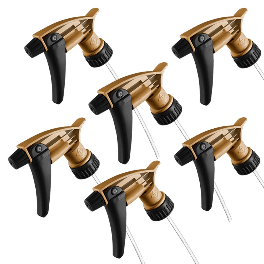 Tolco Black and Gold Acid Resistant Trigger Sprayer (6 Pack) 9-1/4 Tube 320ARS by Tolco