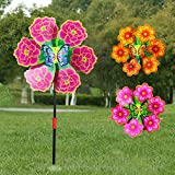 Nankod Flower Windmill Wind Spinner Pinwheels Home Garden Yard Decoration Kids Toys New