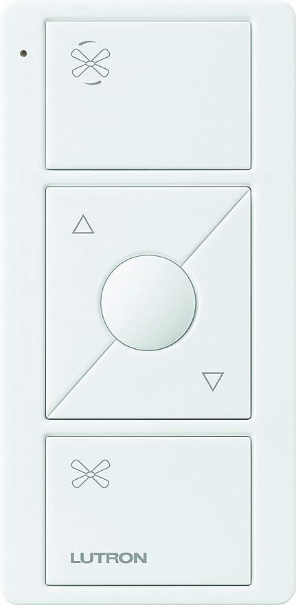 Lutron PJ2-3BRL-WH-F01R Pico Remote for Caseta Wireless Smart Fan Speed