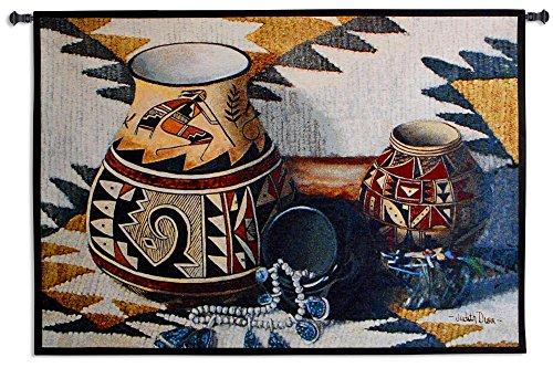 "Pure Country Fine Art Tapestries ""Kokopelli Pot"" Wall Tap..."