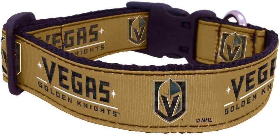 Vegas Gold All Star Dogs NHL Vegas Golden Knights 655257719146 Sports Fan Pet Collars Medium