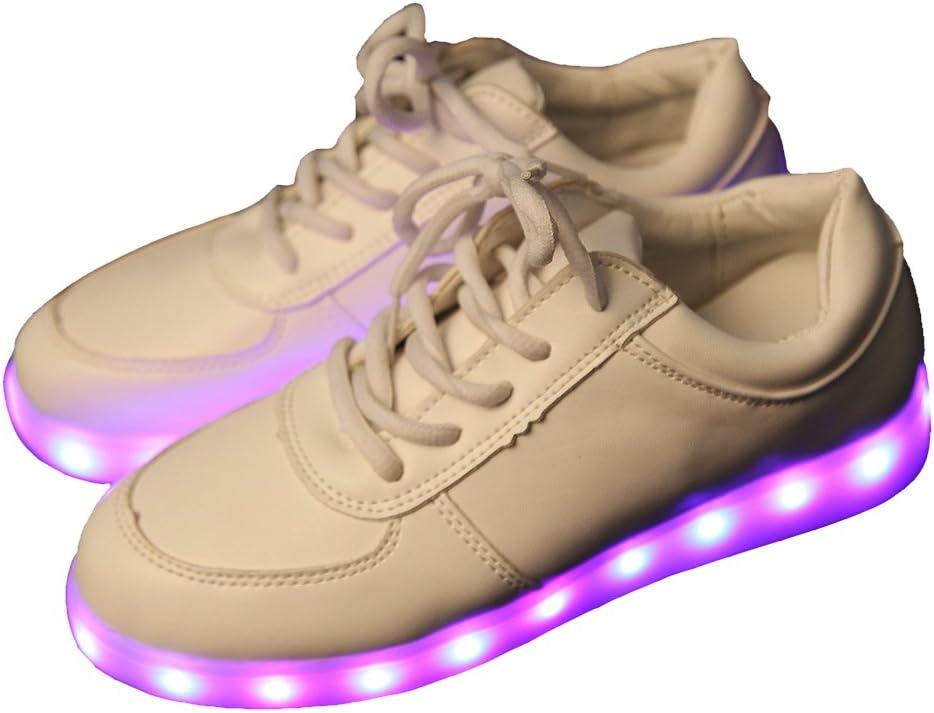 iikids Colorido LED zapatos de carga USB Parejas zapatos de la ...