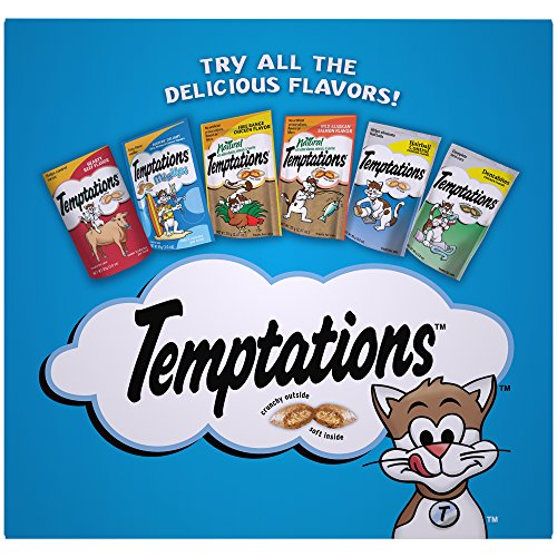 TEMPTATIONS Classic Cat Treats, Classic Flavor Variety Pack, 3oz. (Pack of 4); With Our Mouthwatering Menu We have a flavor for every feline