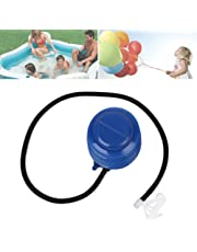 Forfar 5 en 1 bomba de aire portátil Paso de pie operado Swim Pool Fitness Ball Inflador inflable azul del ABS del juguete