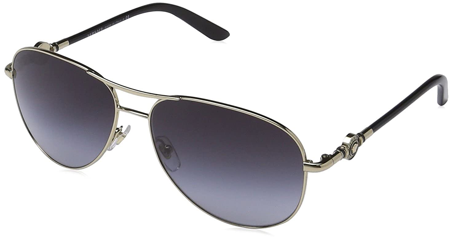 2659fdb78b Amazon.com  Versace VE2157 Sunglasses 12528G-58 - Pale Gold Frame ...