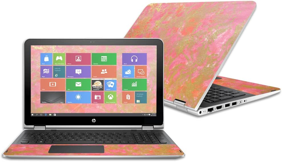 - Thai Marble and Change Styles Remove MightySkins Skin Compatible with HP Pavilion x360 15.6 Durable Made in The USA and Unique Vinyl Decal wrap Cover 2016 Easy to Apply Protective