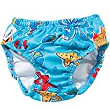Finis Boy's Swim Diapers, 3T (Blue Octopus)