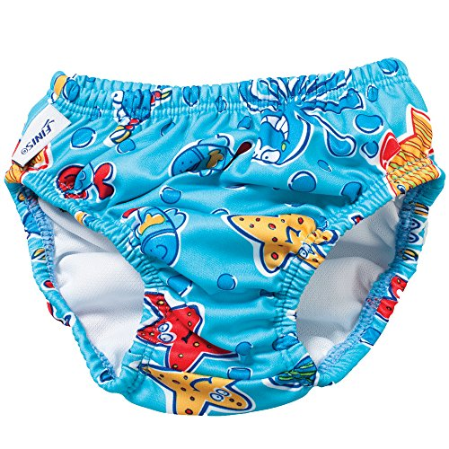 Swim Diaper - Blue Octopus 4T