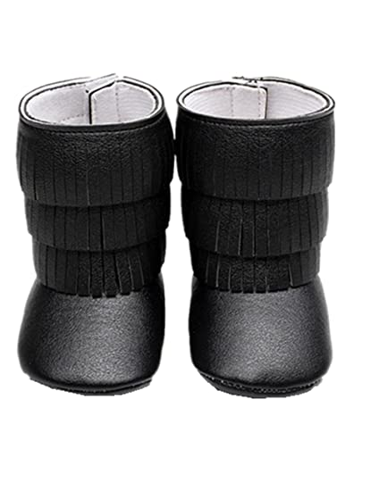 2ffdbadb72ec9 Sunward Baby Toddler Girls Boys Soft Sole Boot Tassels Trimmed Boots Outdoor