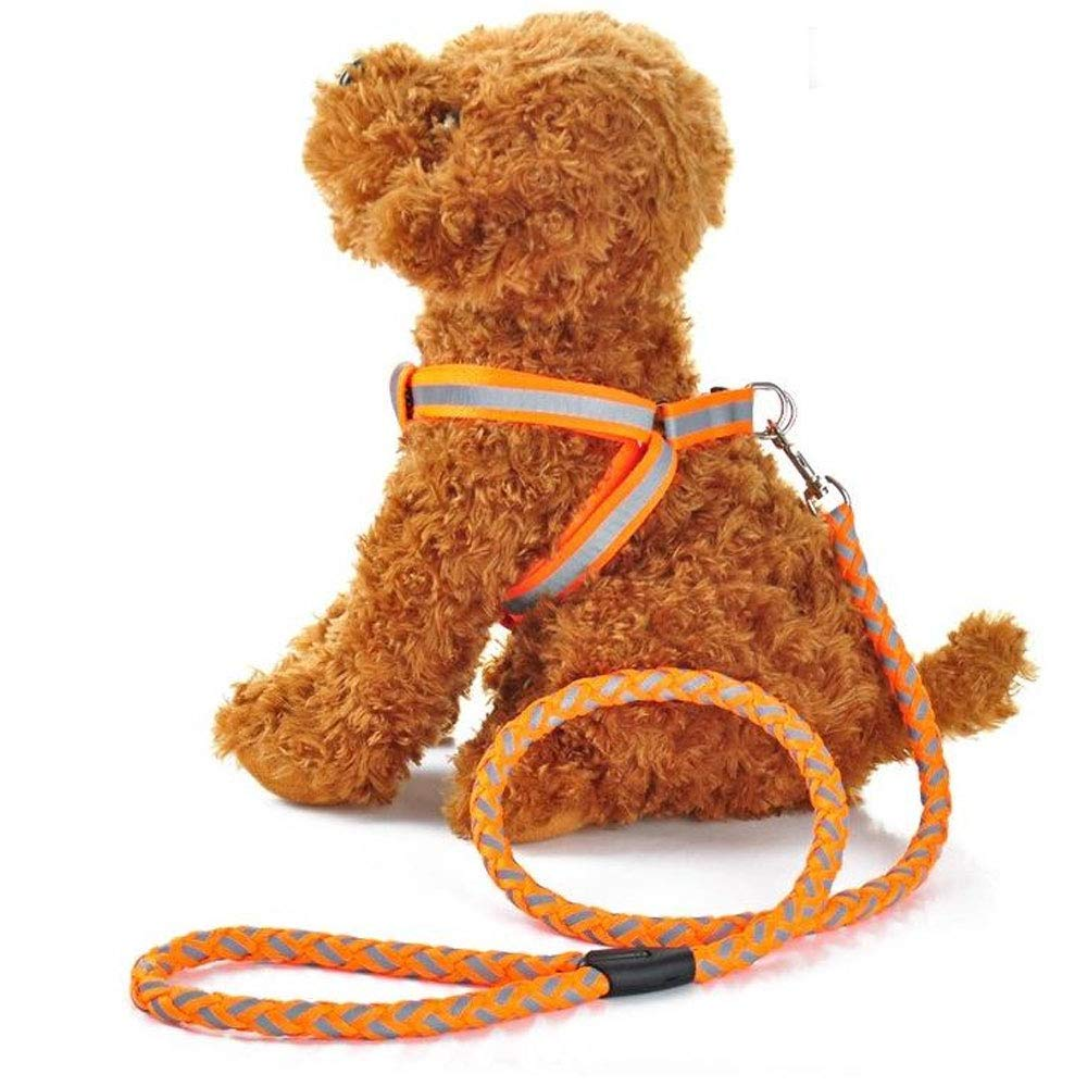 C Pet Leash Pet Leash Small and Medium pet Reflective Chest Strap Round with Traction Rope (3 Size) (color   C)