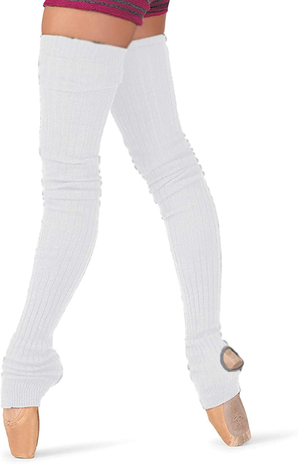 """Body Wrappers 48/"""" Extra Long Stirrup Leg Warmers 92 Black"""