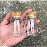 Dealglad - Mini Botellas de Vidrio, Tarros con Tapones de Corcho / Mensajes, Bodas, Deseos, Joyería,…