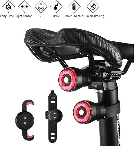 WenBike Luz Trasera de Bicicleta Impermeable con Recarga USB y ...