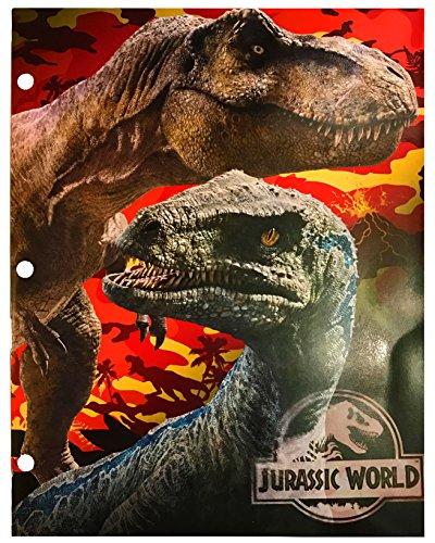 Jurassic World Two Pocket Portfolio Folders - Set of 2 by Tri-Coastal (Image #1)