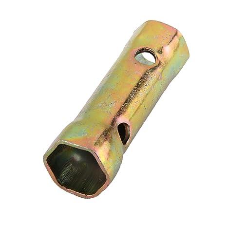 Doble Extremo De La Herramienta Hexagonal Cuadro Bujía Llave De 16mm 18mm Bronce