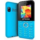 New D'Tech One - GSM Factory Unlocked Basic Feature Phone - Radio - Dual SIM - Music Player - Torch Light - VGA Camera (Blue)