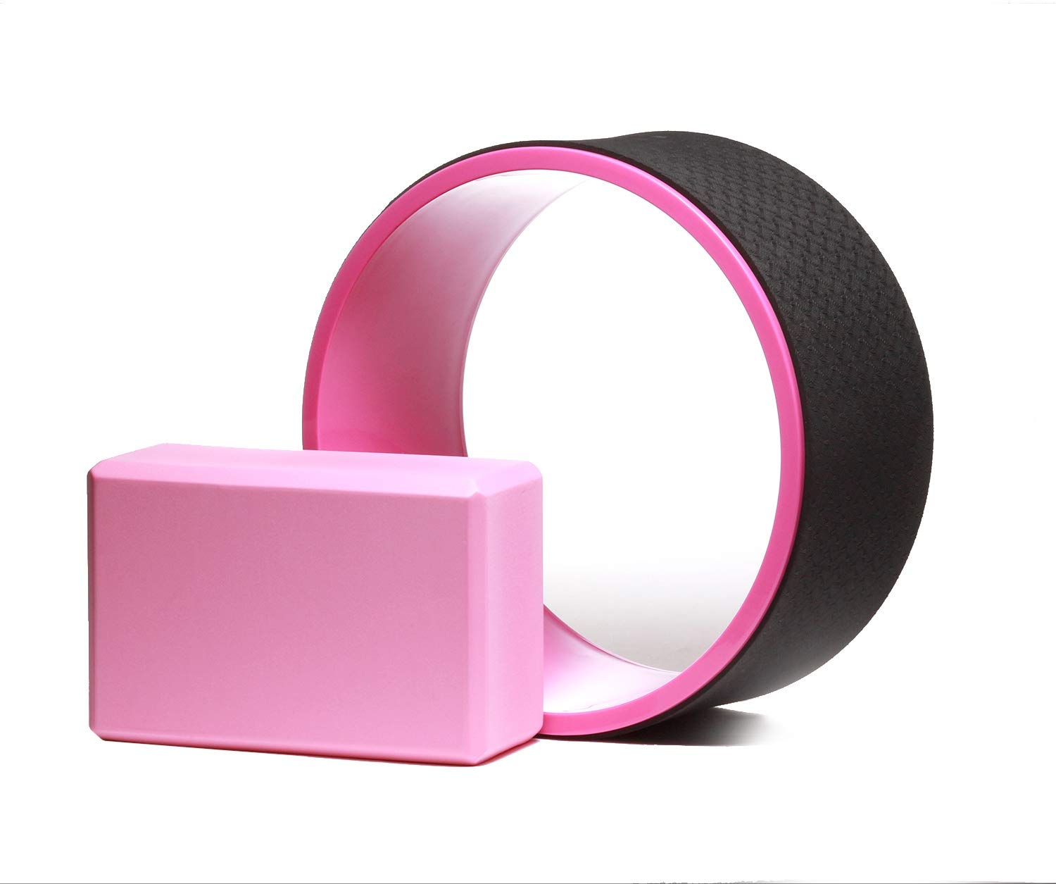 """ALPS 13"""" Yoga Wheel - Sturdy Dharma Yoga Wheel for Stretching, Relieve Muscle Tension and Spine Backbends , Free Yoga Block Included"""