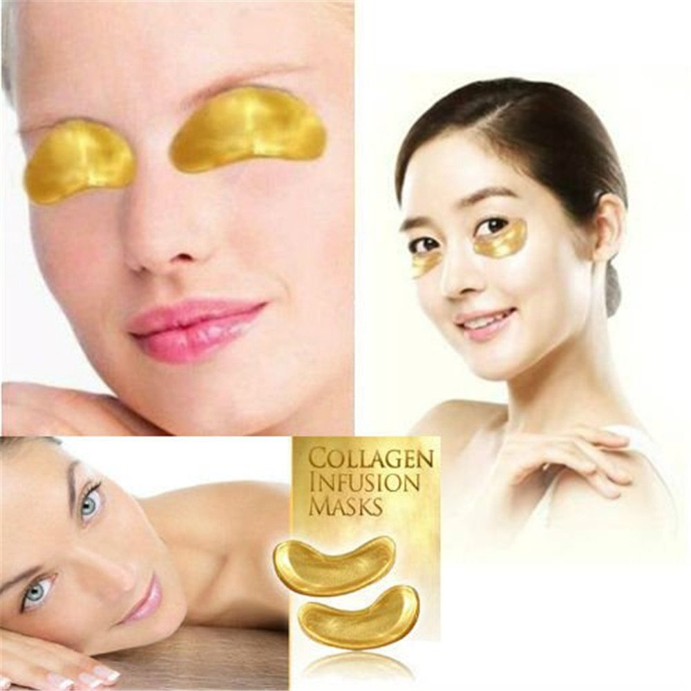 Ardisle Gold Collagen Bio Crystal for Face Facial Eye Neck Mask Anti Ageing Wrinkle Mask (Eye Mask 10PCS)