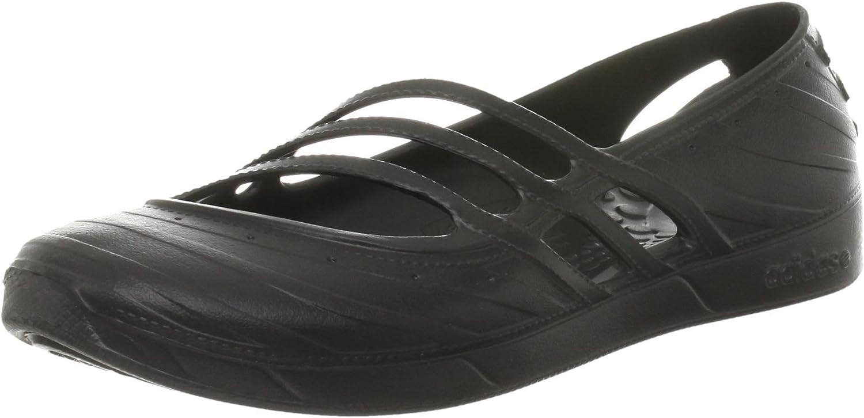 adidas womens qt comfort sandal beach shoe new g53010 black uk 4 to uk 6