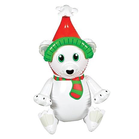 new 24 inflatable polar bear winter christmas decoration - Polar Bear Inflatable Christmas Decorations