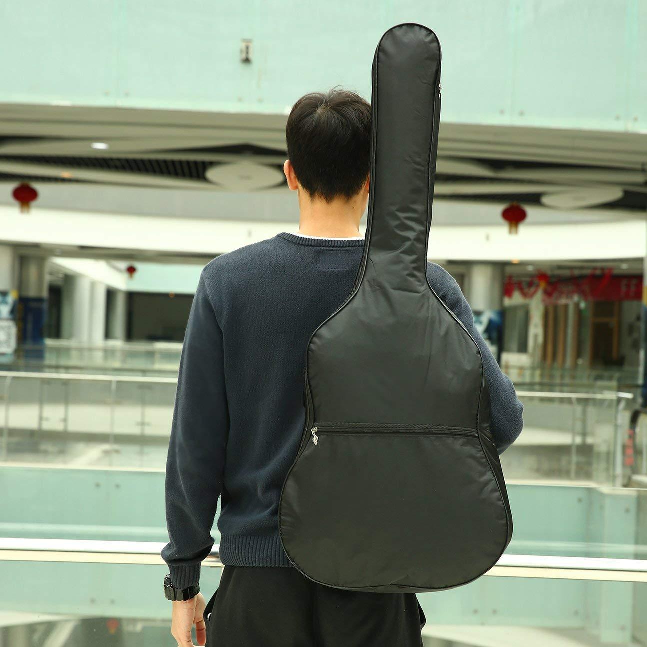 COULEUR: noir 420D avec bandouli/ère r/églable housse de protection pour /étui de guitare acoustique en nylon 420D /Étui de rangement pour guitare /étui de nylon