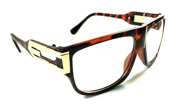 12149aa0de8 Amazon.com  Gazelle Underboss Hip Hop Clear Lens Sunglasses (Brown ...