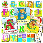 Animal Alphabet Board Book Super Set For Toddlers Babies -- 24 Mini ABC Board Books (Boxed Set with Stickers)