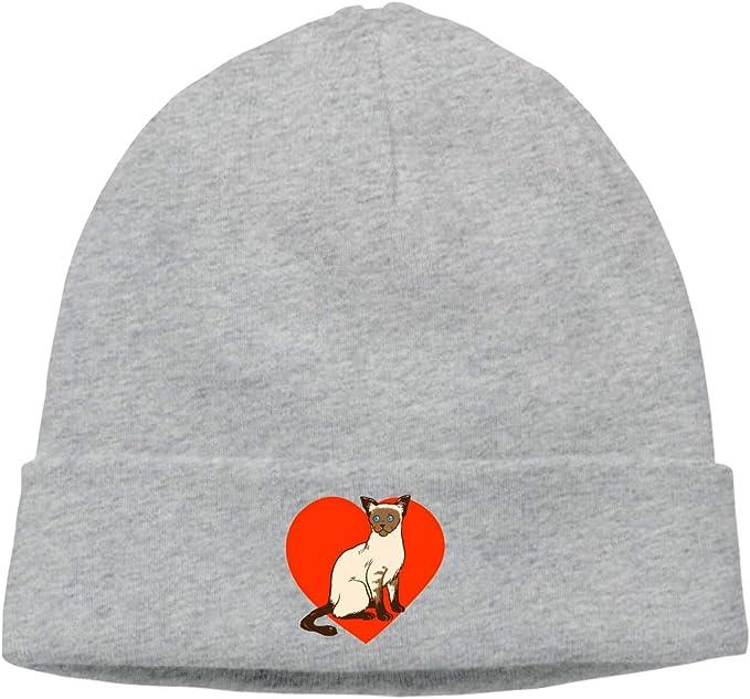 I Love My Boston Terrier Winter Warm Beanie Hat Skull Cap