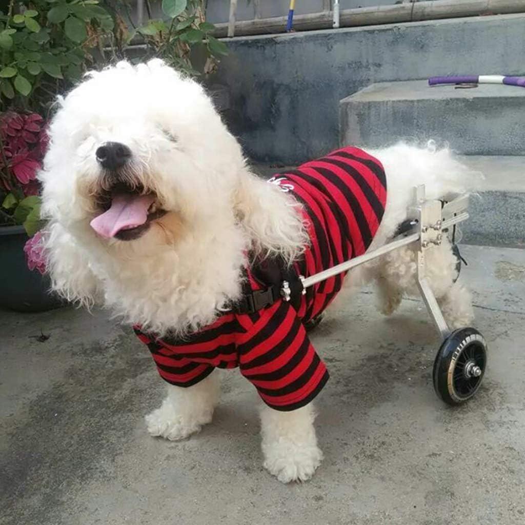 Knoijijuo Kays Perros Silla de Ruedas Silla de Ruedas - kg para la mayoría de los Perros 5-15 - Animal médicamente Aprobado - la Silla de Ruedas de Soporte Trasero - para el hogar,XXS